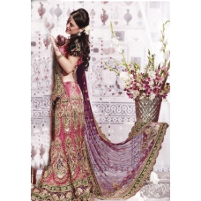 Red & Green Indian Bridal Lengha: Ref 560