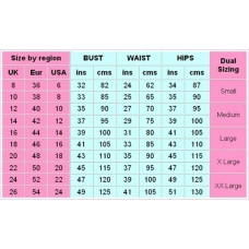Dress Size - Simple Size Chart