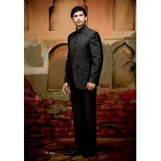 Mens Wedding Suit Indo-Western Black: Ref E203