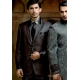Mens Wedding Suit Indo-Western shinny Black and Brown: Ref E205