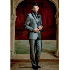 Mens Wedding Suit Indo-Western Wicked Grey: Ref E206