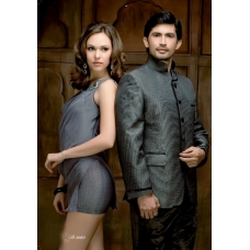 Mens Wedding Suit Indo-Western Grey: Ref E207