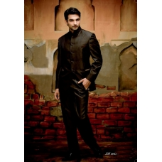 Mens Wedding Suit Indo-Western Cool Black: Ref E208