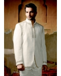 Mens Wedding Suit Indo-Western Angelic White: Ref E209