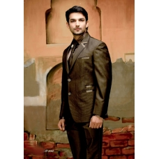 Mens Wedding Suit Indo-Western Brown: Ref E211