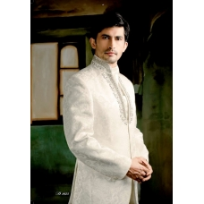 Mens Wedding Suit Indo-Western Rajisthan White Night Ref: E216
