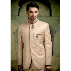 Mens Wedding Suit Indo-Western Modest Ivory Ref: E217