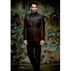 Mens Wedding Suit Indo-WesternBrown Plum Ref: E221
