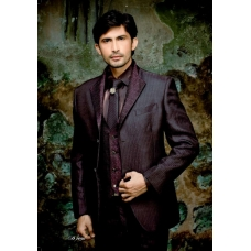 Mens Wedding Suit Indo-WesternBrown Black Ref: E220