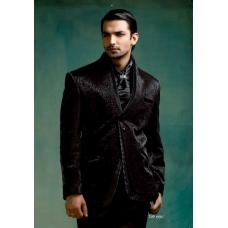 Mens Wedding Suit Indo-Western Black Beauty Ref: E222