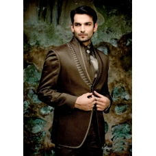 Mens Wedding Suit Indo-Western Brown Ref: E223