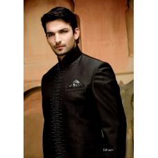 Mens Wedding Suit Indo-Western Modest BlackRef: E224