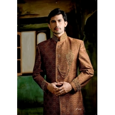 Mens Wedding Suit Indo-Western Bronze Sultan Ref: E227