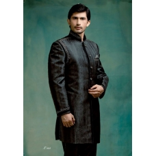 Mens Wedding Suit Indo-Western Simple Black Ref: E228