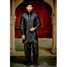 Mens Wedding Suit Indo-Western Elegant Grey Designer Ref: E230