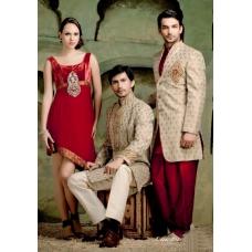 Mens Wedding Suit Indo-Western Elegant Grey Designer Ref: E231