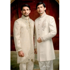 Mens Wedding Suit Indo-Western White Raja Ref: E234