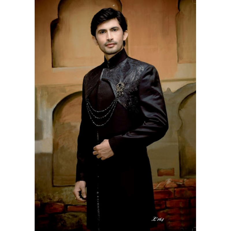 Wedding Suit Indo-Western Black Night Ref: E212
