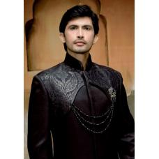 Mens Wedding Suit Indo-Western Black Night Ref: E212